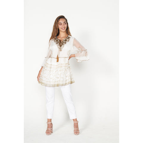 Caju - Beaded Printed Tunic