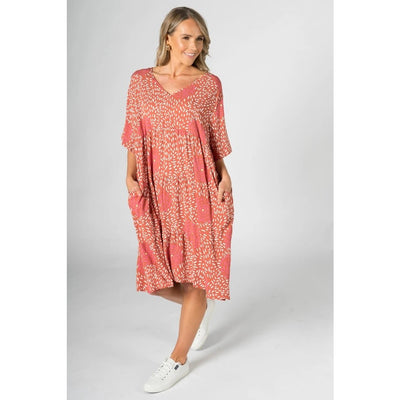 PQ - Chic Dress Coral Splash