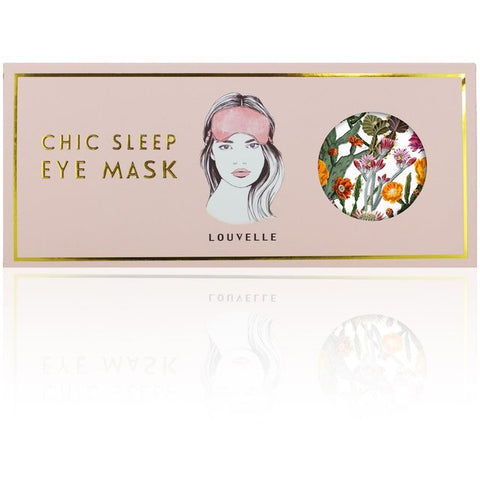 Louvelle Chloe Eye Mask in Cactus Garden