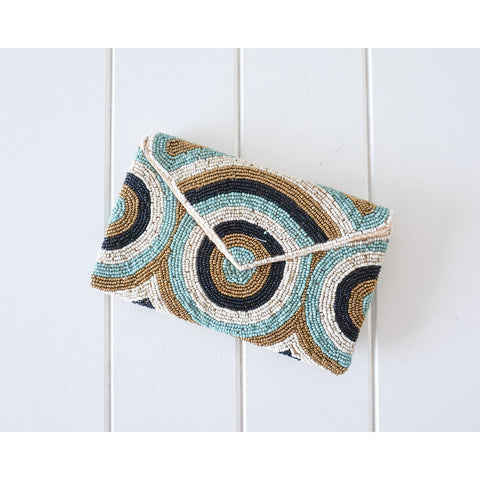 Rayell - Beaded Clutch (Circles)