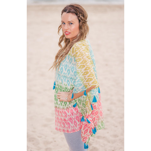 Multi Colour  Cotton Kaftan