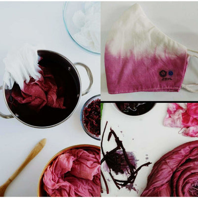 Reusable Facemask -  Purple Cabbage dyed