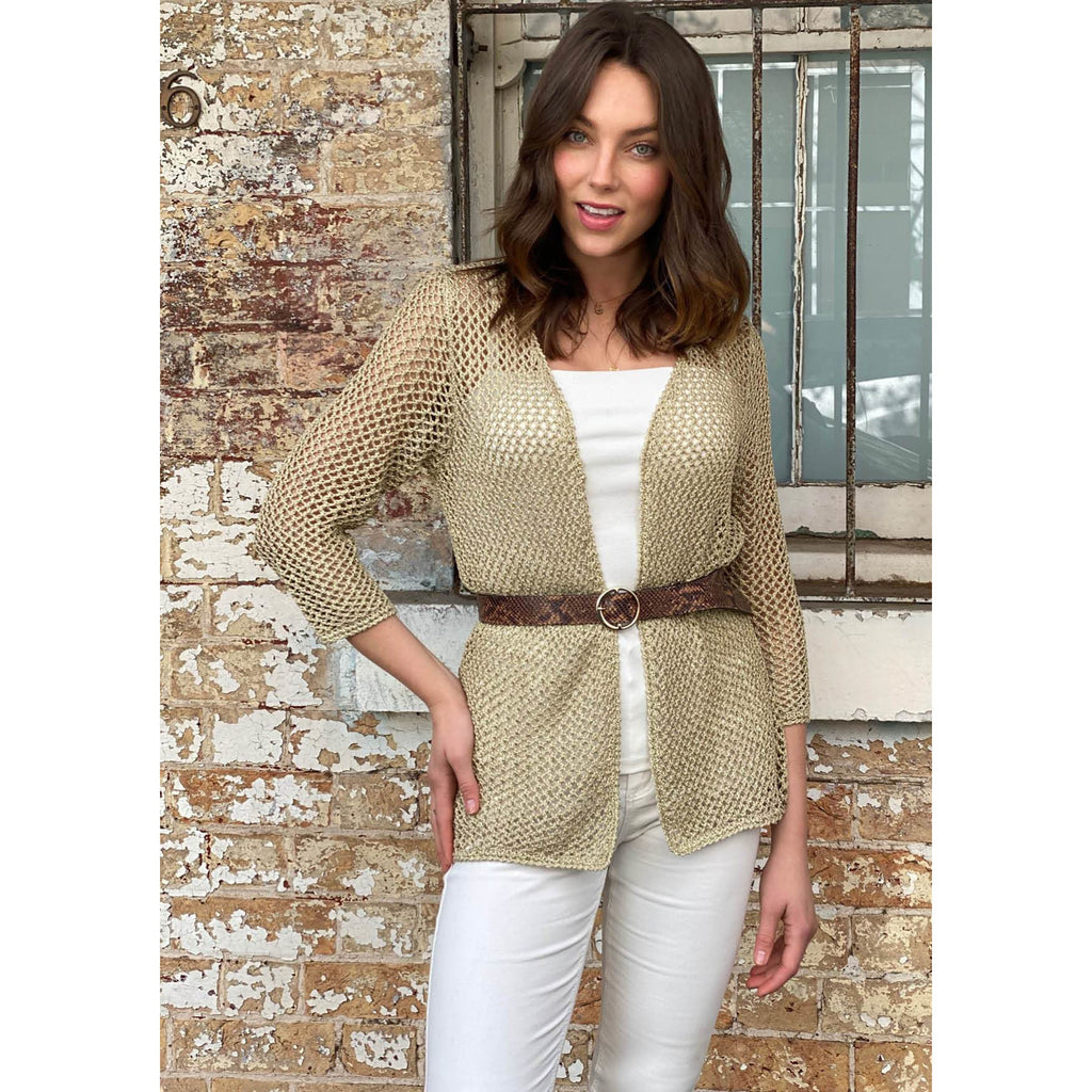 Crochet Cardigan - Lurex thread