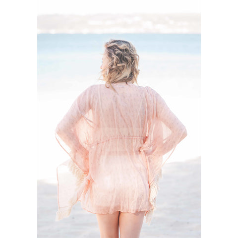 Boho Pink Cotton Kaftan