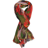 Orange Multi Wool Lightweight Scarf