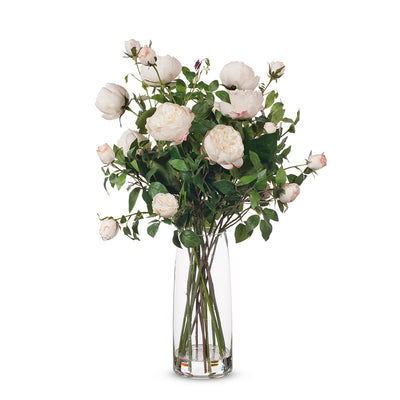 English Rose in Vase - White