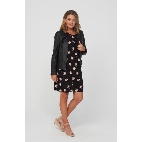 Kaja EVERLEY Dress in Black Print