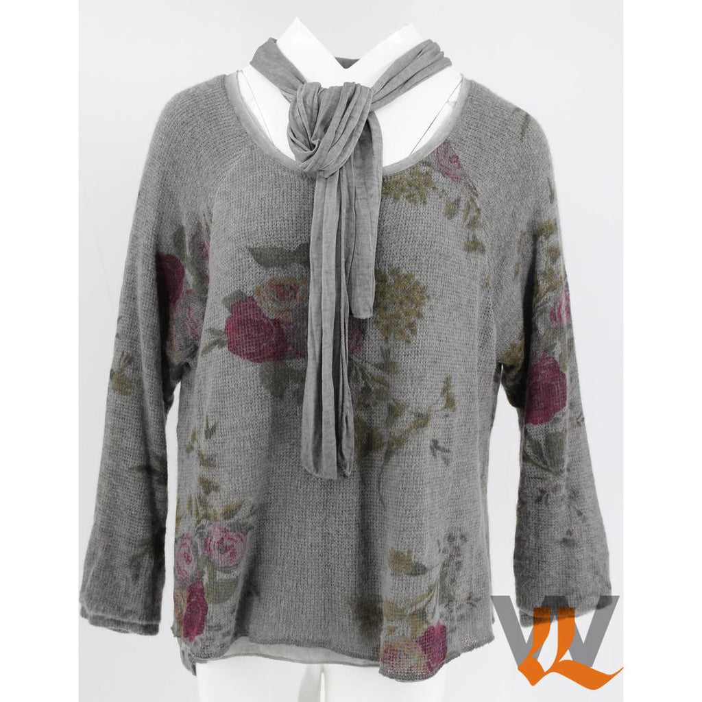 Wednesday Lulu - Knitted Sweater Floral