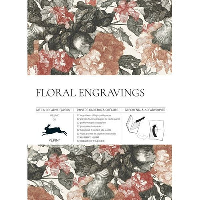 Paper Craft Books-Flowers Engraving