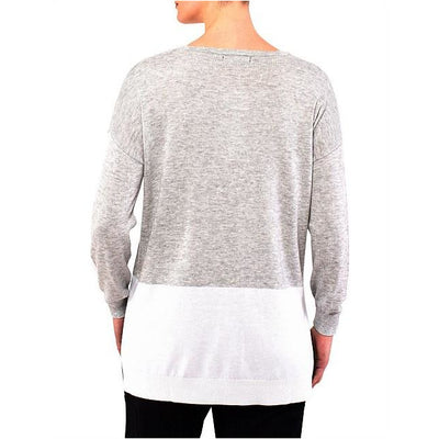 PingPong - Colour Block Pullover Grey/ Ivory