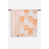 Nadia Cream & Ochre Patchwork Handprint Quilts  - Melange Chic - 2