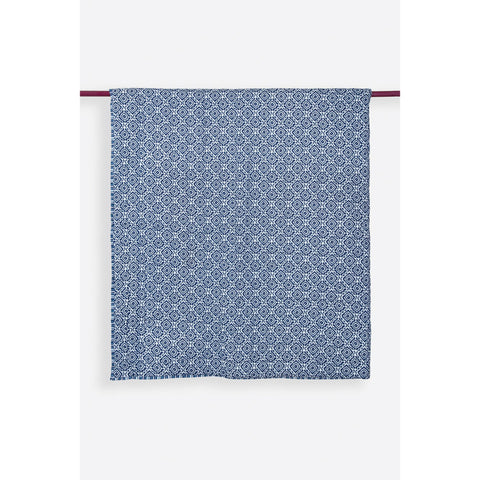 Amreen Indigo Handprinted Reversible Cotton Handmade Quilt  - Melange Chic - 1