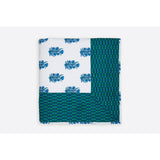 Zubeidah Tulip White and Seagreen Blockprint Reversible Cotton Quilt  - Melange Chic - 4