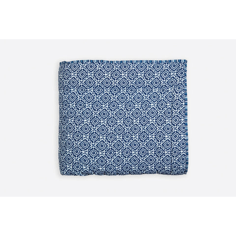 Amreen Indigo Handprinted Reversible Cotton Handmade Quilt  - Melange Chic - 4