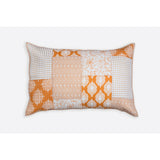 Nadia Cream & Ochre Patchwork Handprint Quilts  - Melange Chic - 5