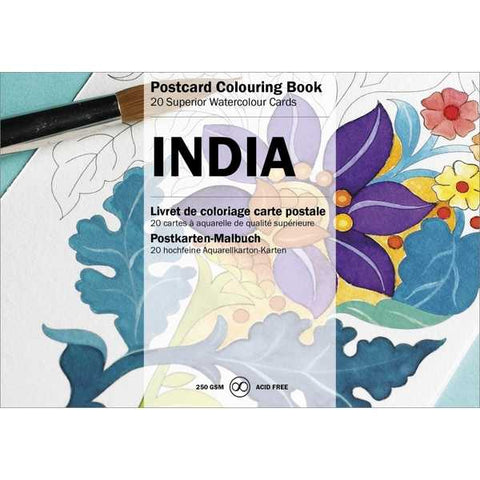 Postcard Colouring Book- Indian Designs