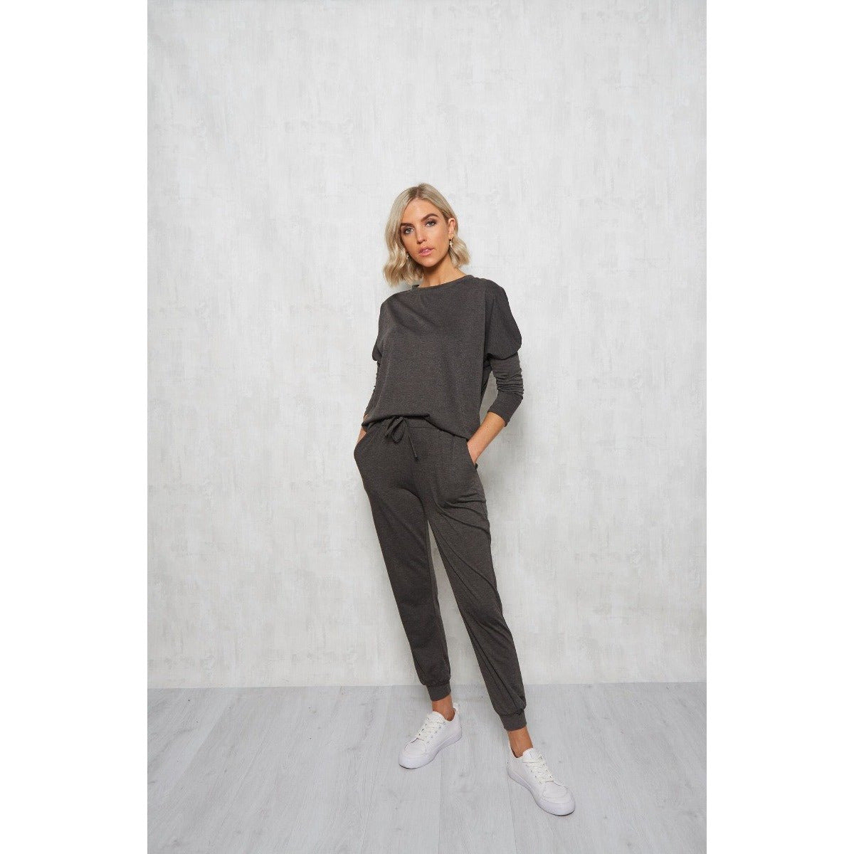 FL Basic - Rey long sleeve T Shirt - Charcoal