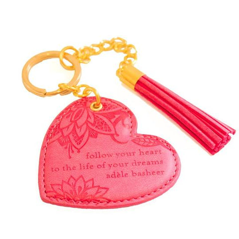 Intrinsic Heart Keyring - Coral Crush
