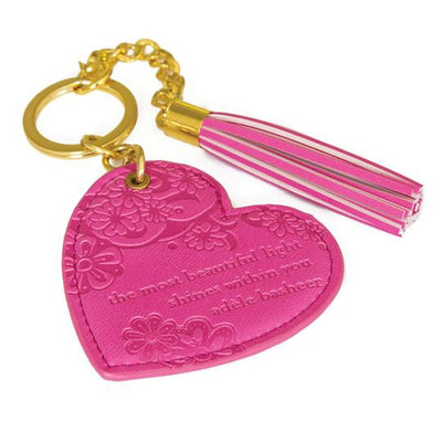 Intrinsic Heart Keyring - Miami Pink