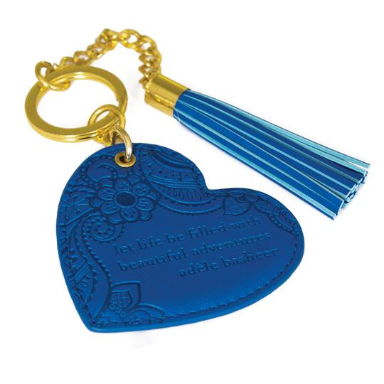 Intrinsic Heart Keyring - Santorini Blue