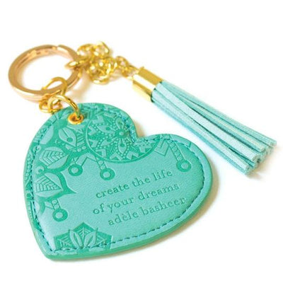 Intrinsic Heart Keyring - Tahitian Turquoise