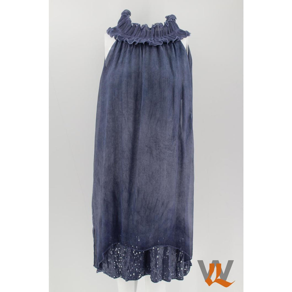 Wednesday Lulu - Silk Halter Dress