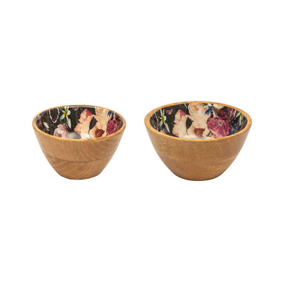 Dip & Nut Bowl Set – Blueberry Floral