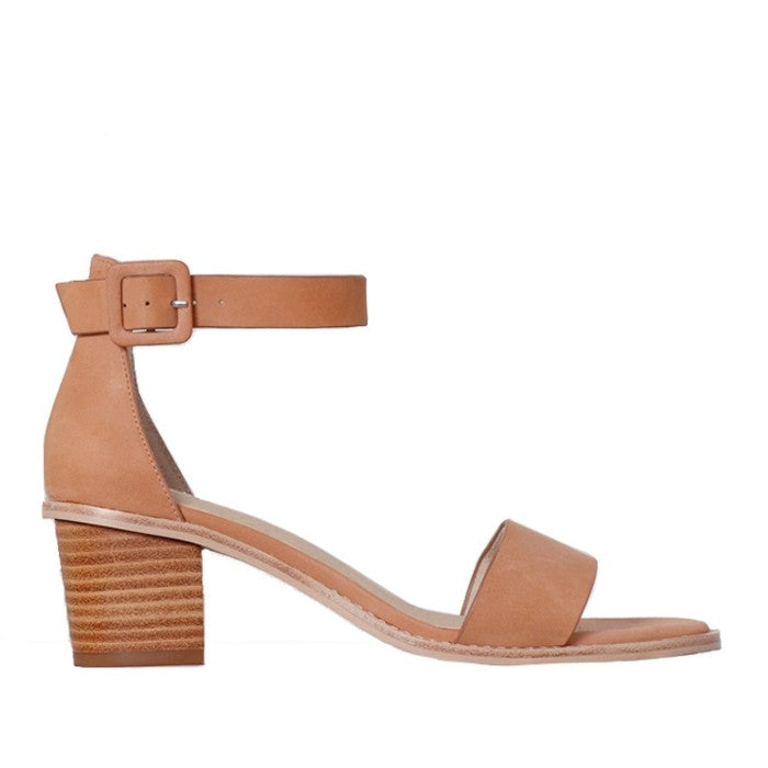 NUDE - MICKEE SOFT CORAL LEATHER SANDAL