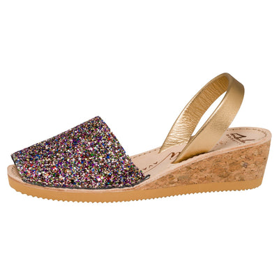Avarcas -  Multi Glitter Wedge