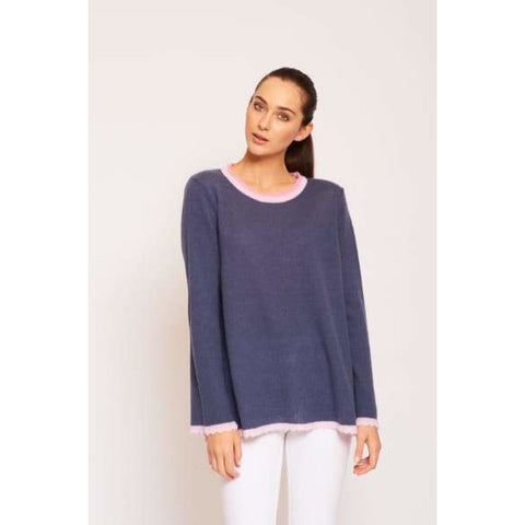 Chantilly Cashmere Sweater in Nautical