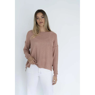 Humidity - Novah Knit Top Blush