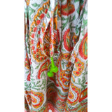 Orange & Green Paisley Cotton Kaftan