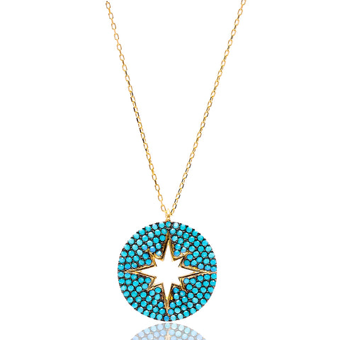 North Star Lapis Pave Set Necklace