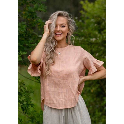 Iris Frill Top - Peach