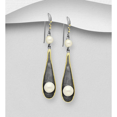Sterling Silver and Fresh Water Nature Collection Earrings