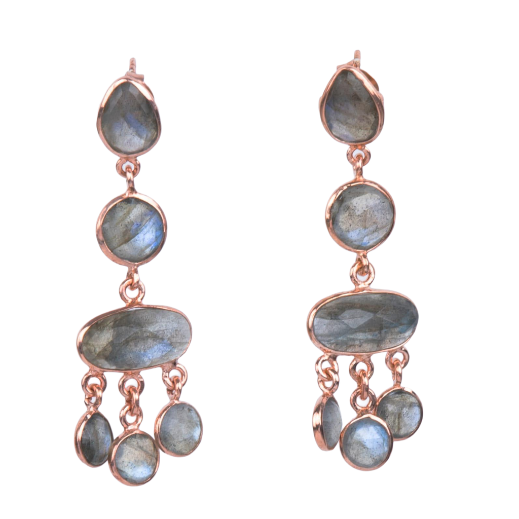 Sterling Silver Labradorite Chandelier earrings