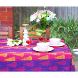 Stripe Blockprint Kantha Quilt / Throw / Tablecloth  - Melange Chic - 1