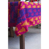 Stripe Blockprint Kantha Quilt / Throw / Tablecloth  - Melange Chic - 2