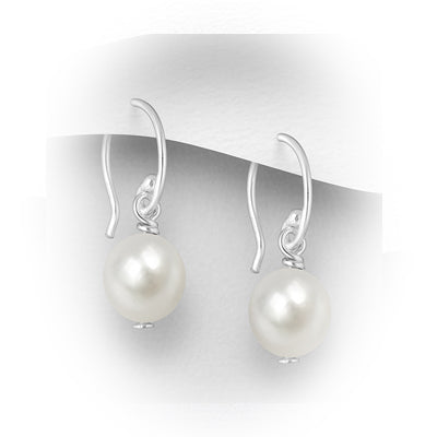 Natural Fresh Water classic Pearl Earrings