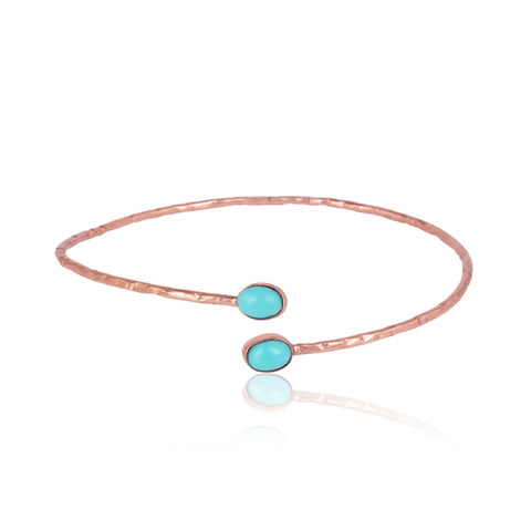 Dual Arizona Turquoise Gemstone Bangle