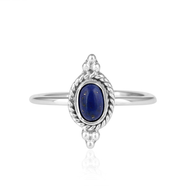 Lapis Ornate Silver Ring