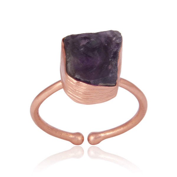 Handcrafted Bold Organic Amethyst Ring
