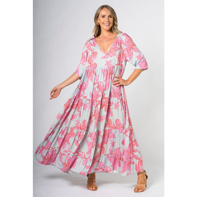 PQ - Ruffle Dress Flamingo