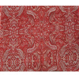 Wine Paisley Wool Lightweight Scarf