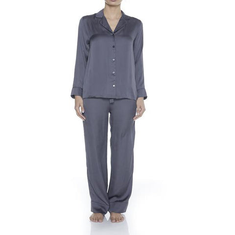 Gingerlilly Grey Button PJ Set