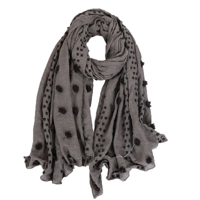 Scarf - Textured Grey
