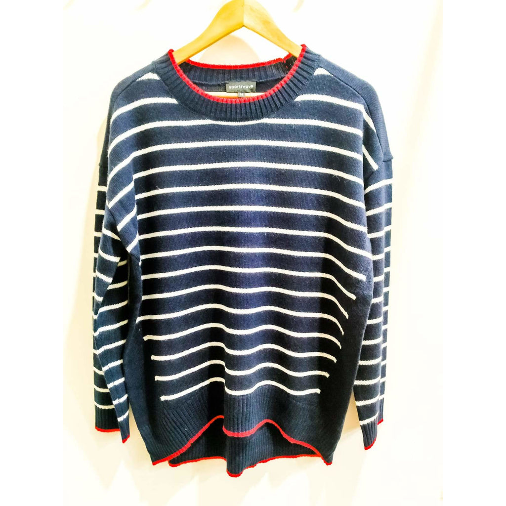 Sportswave Stripe and Tipped Crew Knit