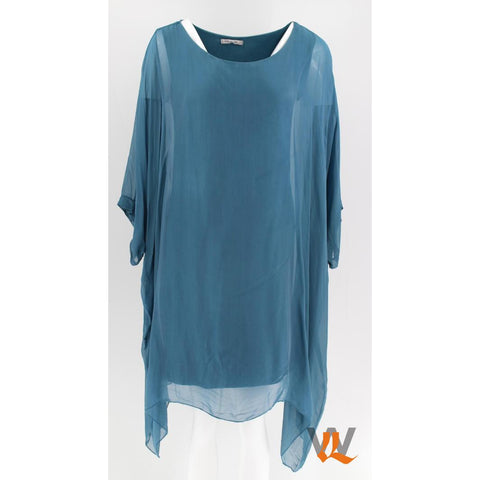 Wednesday Lulu - Plain Long Silk Tunic