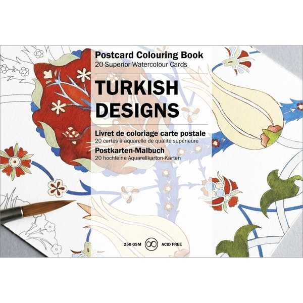Postcard Colouring Book- Turkish Designs