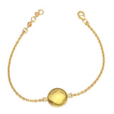 Elba - Gold Vermeil and Sea Green Chalcedony Bracelet  - Melange Chic - 4